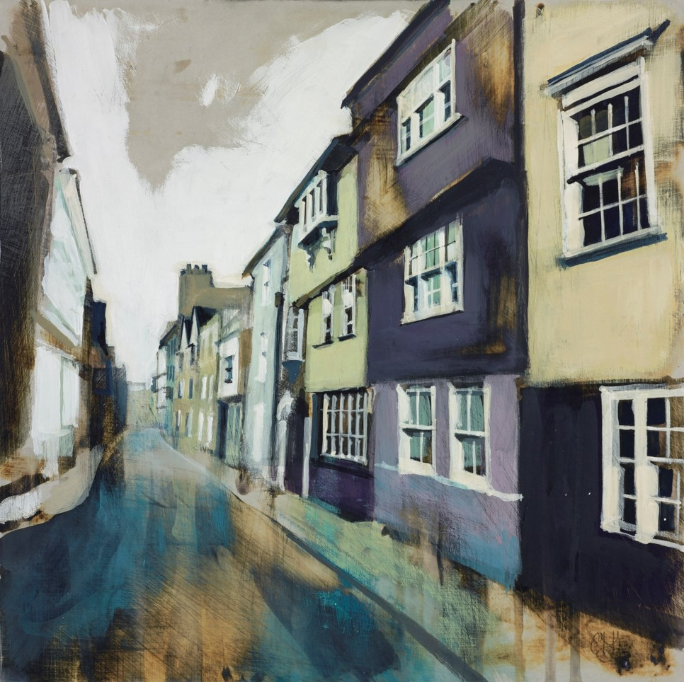 Narrow Street with Violet House